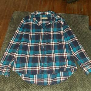 JACHS GIRLFRIEND Flannel Shirt! Size XL runs small